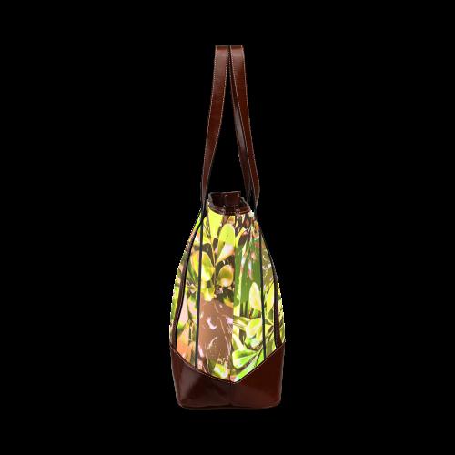 Foliage Patchwork #5 - Jera Nour Tote Handbag (Model 1642)