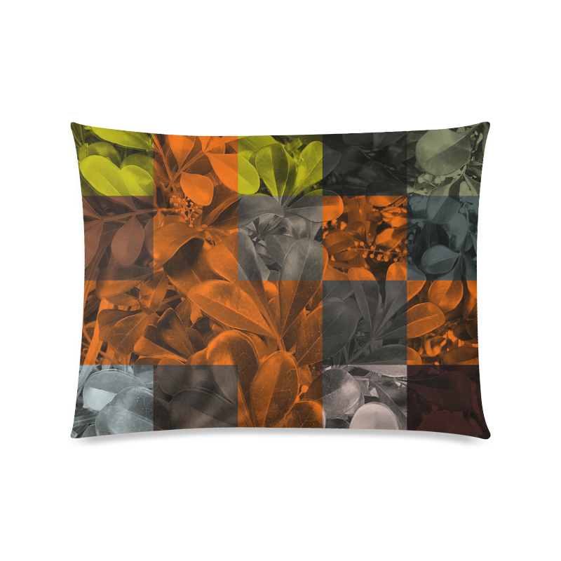 "Foliage Patchwork #9 - Jera Nour Custom Zippered Pillow Case 20""x26""(Twin Sides)"