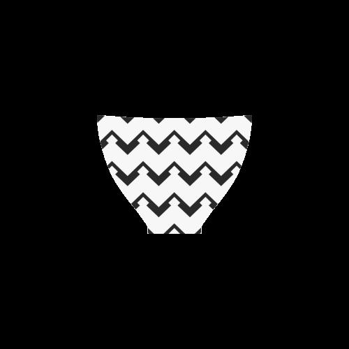 Chevron black and white  1 Custom Bikini Swimsuit