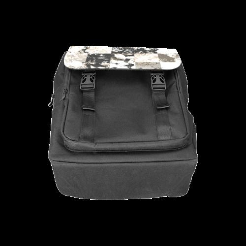 Foliage Patchwork #8 Black- Jera Nour Casual Shoulders Backpack (Model 1623)