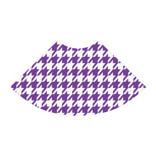 royal purple and white houndstooth classic pattern Atalanta Sundress (Model D04)
