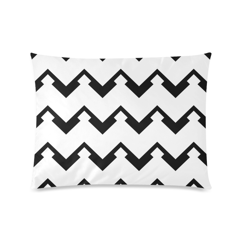 "Chevron black and white  1 Custom Picture Pillow Case 20""x26"" (one side)"