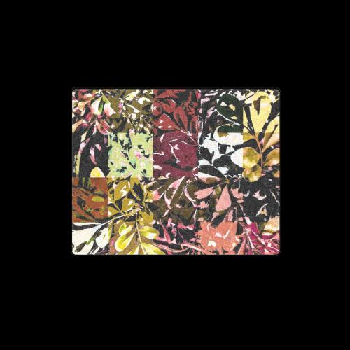 "Foliage Patchwork #6 - Jera Nour Blanket 40""x50"""