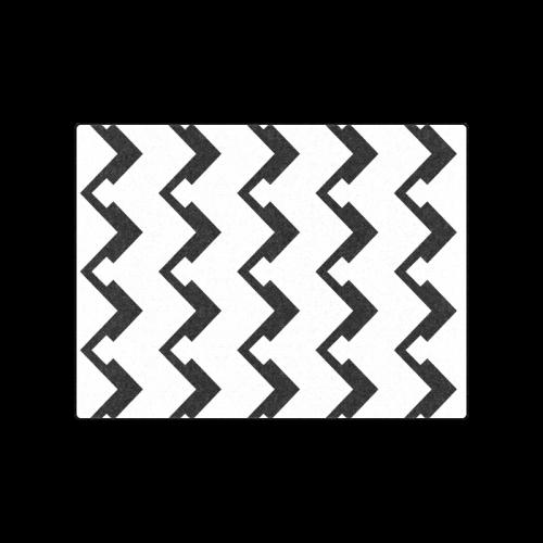 "Chevron black and white  1 Blanket 50""x60"""