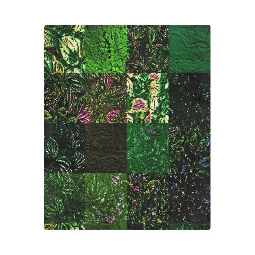 "Foliage Patchwork #1 - Jera Nour Duvet Cover 86""x70"" ( All-over-print)"