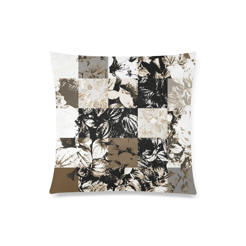 "Foliage Patchwork #8 - Jera Nour Custom Zippered Pillow Case 20""x20""(Twin Sides)"