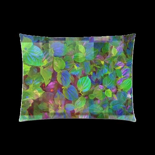 "Foliage Patchwork #10 - Jera Nour Custom Zippered Pillow Case 20""x26""(Twin Sides)"