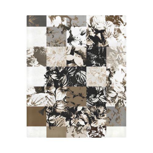 "Foliage Patchwork #8 - Jera Nour Duvet Cover 86""x70"" ( All-over-print)"