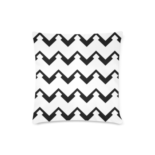 """Chevron black and white  1 Custom Zippered Pillow Case 16""""x16""""(Twin Sides)"""