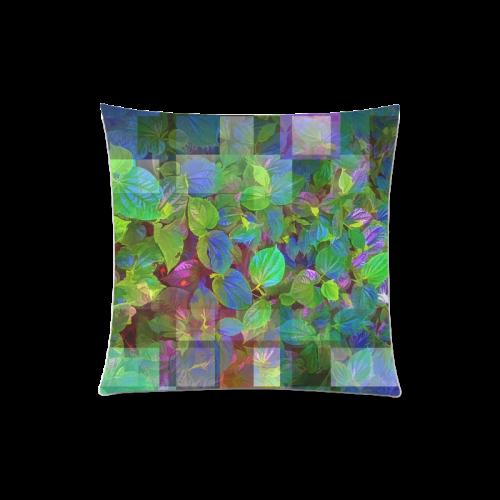 "Foliage Patchwork #10 - Jera Nour Custom Zippered Pillow Case 20""x20""(Twin Sides)"