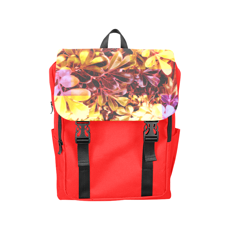 Foliage Patchwork #11 Red - Jera Nour Casual Shoulders Backpack (Model 1623)