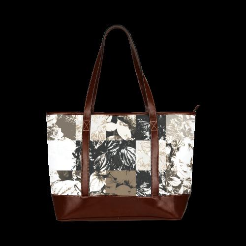 Foliage Patchwork #8 - Jera Nour Tote Handbag (Model 1642)