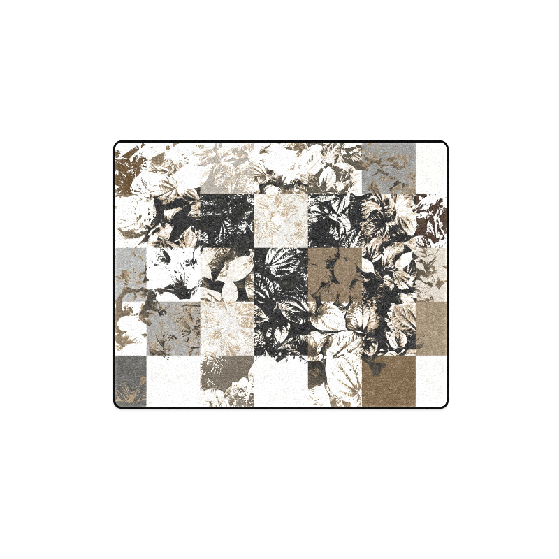 "Foliage Patchwork #8 - Jera Nour Blanket 40""x50"""