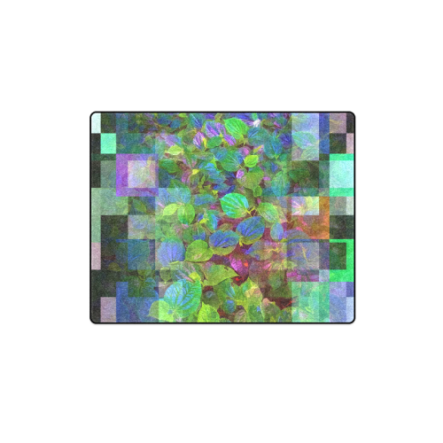 "Foliage Patchwork #10 - Jera Nour Blanket 40""x50"""