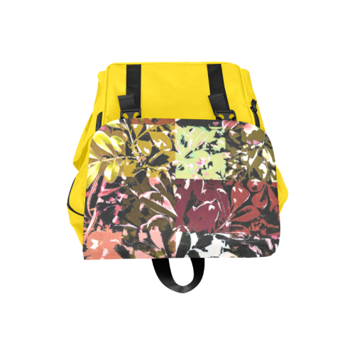 Foliage Patchwork #6 Yellow - Jera Nour Casual Shoulders Backpack (Model 1623)