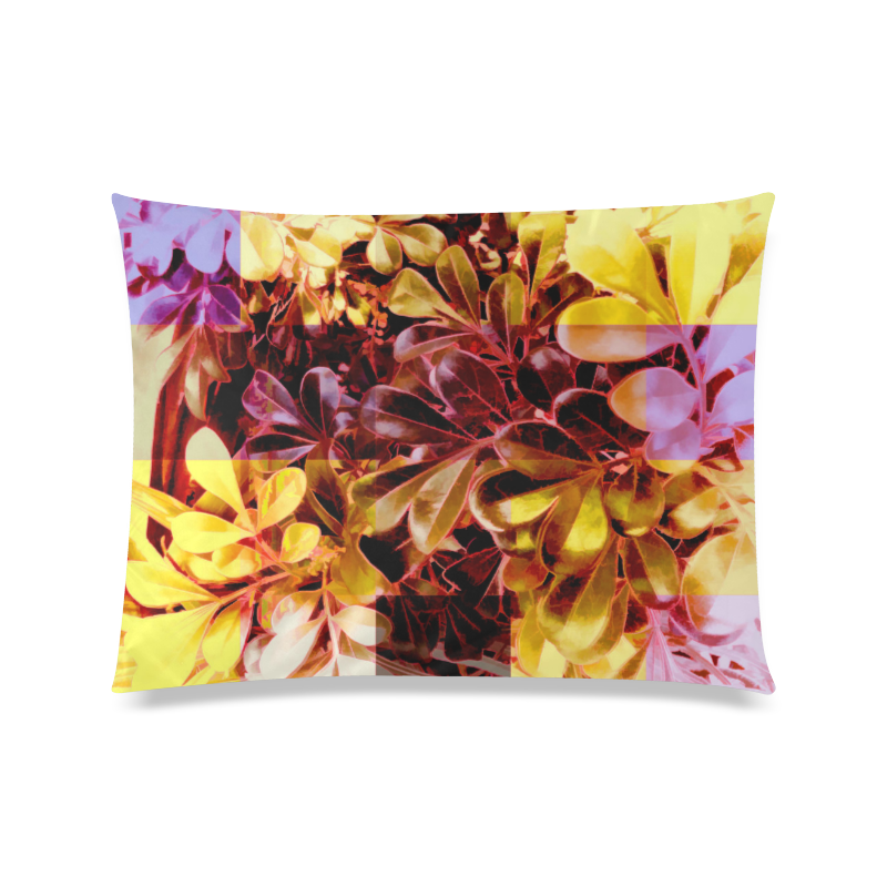 "Foliage Patchwork #11 - Jera Nour Custom Zippered Pillow Case 20""x26""(Twin Sides)"