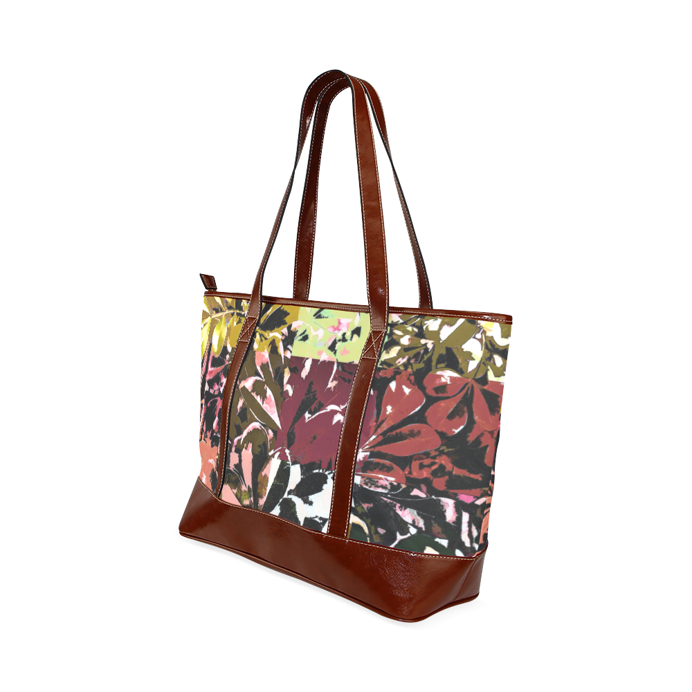 Foliage Patchwork #6 - Jera Nour Tote Handbag (Model 1642)