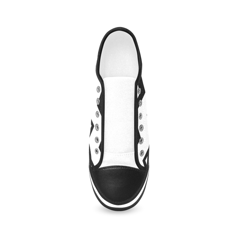 Chevron black and white  1 Women's Canvas Zipper Shoes (Model 001)