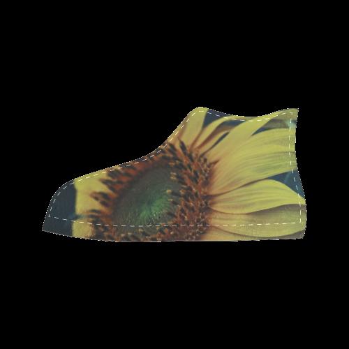 Sunflower Women's Classic High Top Canvas Shoes (Model 017)