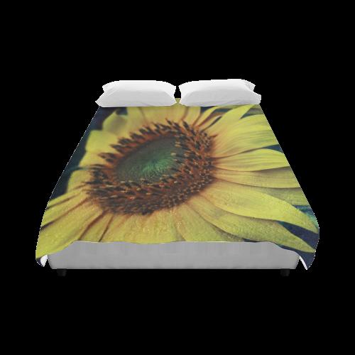 """Sunflower Duvet Cover 86""""x70"""" ( All-over-print)"""