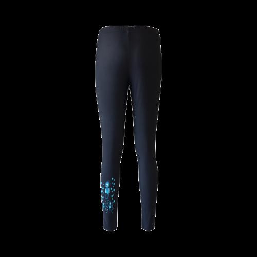Sea horses in blue Cassandra Women's Leggings (Model L01)