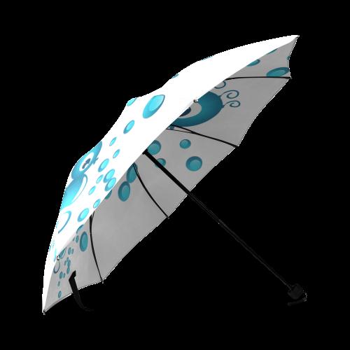 Sea horses in blue Foldable Umbrella (Model U01)