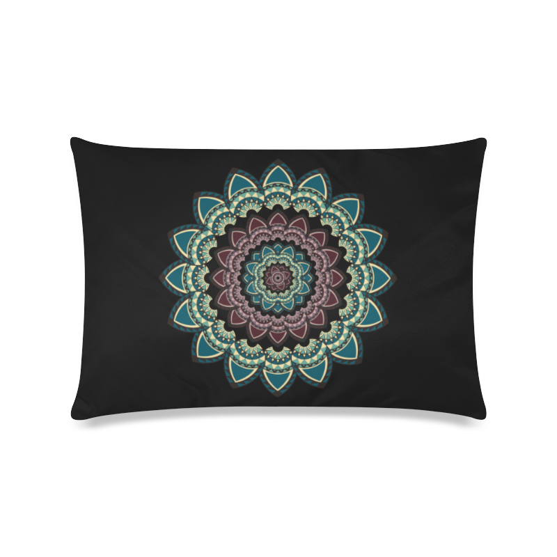 "Mandala I Custom Zippered Pillow Case 16""x24""(Twin Sides)"