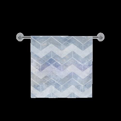 "Chevron in blue watercolors Bath Towel 30""x56"""
