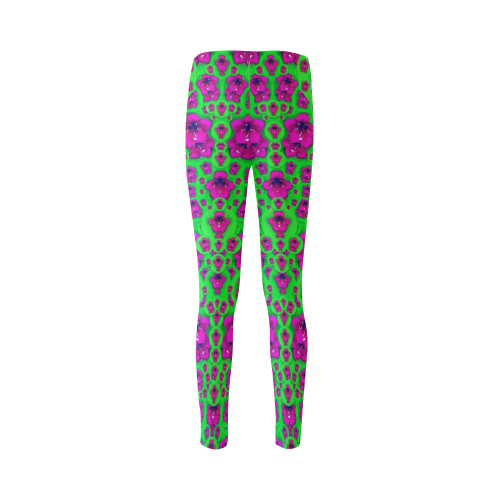 Fantasy Valentine in floral love and peace time Cassandra Women's Leggings (Model L01)