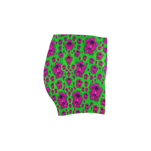 Fantasy Valentine in floral love and peace time Briseis Skinny Shorts (Model L04)