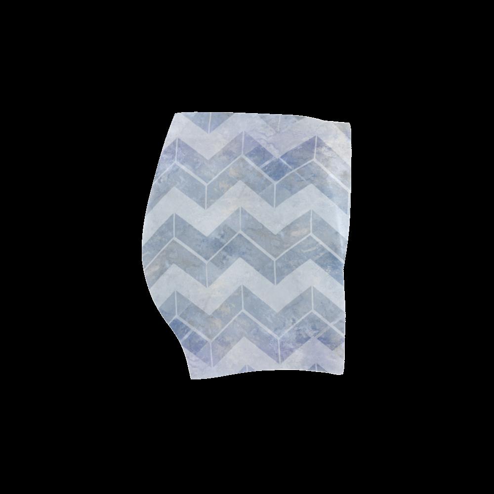 Chevron in blue watercolors Briseis Skinny Shorts (Model L04)
