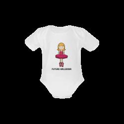 Future Ballerina - dancing ballet girl illustratio Baby Powder Organic Short Sleeve One Piece (Model T28)
