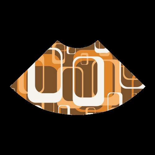 retro pattern 1971 orange Atalanta Sundress (Model D04)