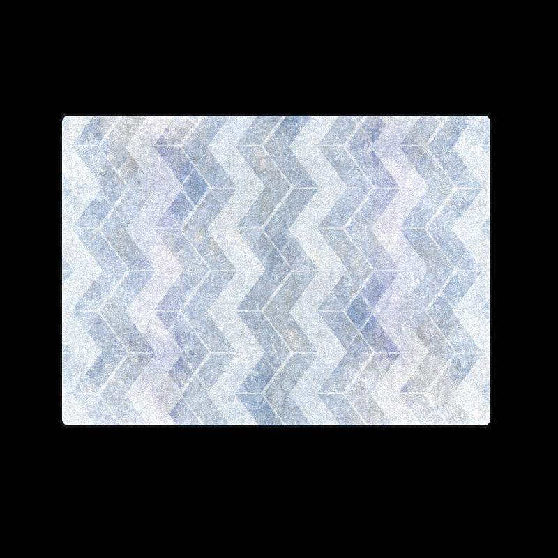 """Chevron in blue watercolors Blanket 58""""x80"""""""