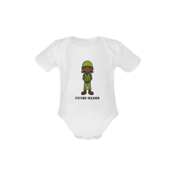 future soldier - army girl illustration Baby Powder Organic Short Sleeve One Piece (Model T28)