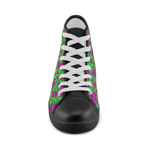 Fantasy Valentine in floral love and peace time Men's High Top Canvas Shoes (Model 002)