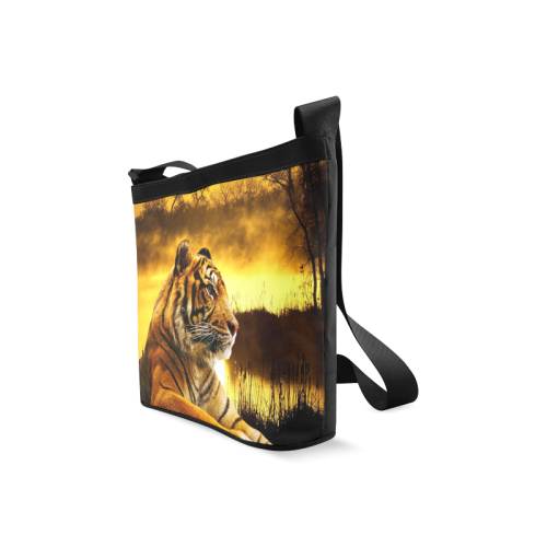 Tiger and Sunset Crossbody Bags (Model 1613)