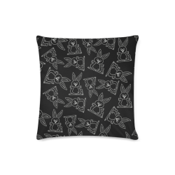 """Bunny Pattern Custom Zippered Pillow Case 16""""x16""""(Twin Sides)"""