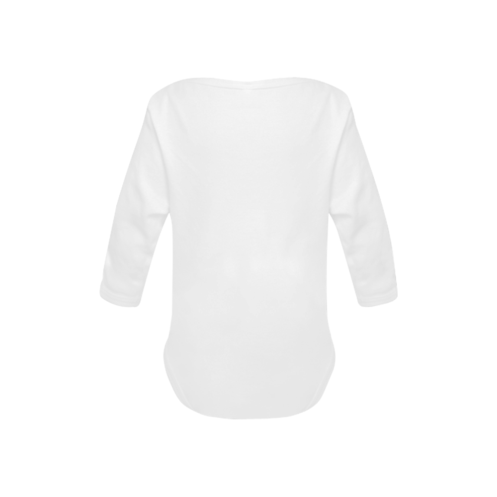 Swim girl - bathing suit swimming Baby Powder Organic Long Sleeve One Piece (Model T27)