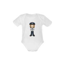 Police Girl - officer law enforcement cop Baby Powder Organic Short Sleeve One Piece (Model T28)