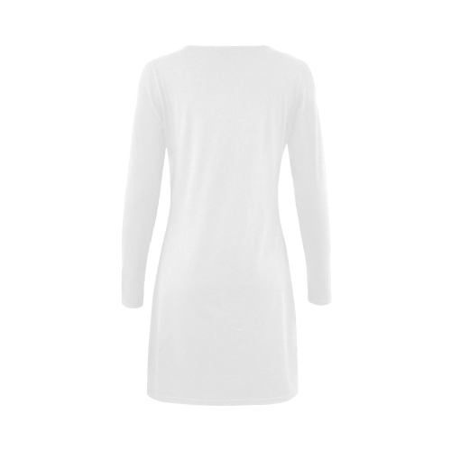 best mom teal mother Demeter Long Sleeve Nightdress (Model D03)