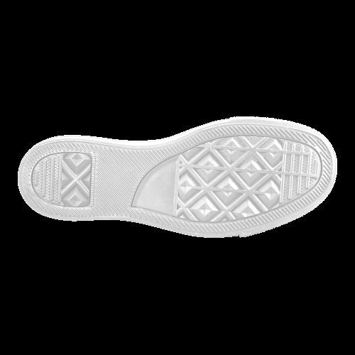 Silver Cubes Women's Slip-on Canvas Shoes (Model 019)