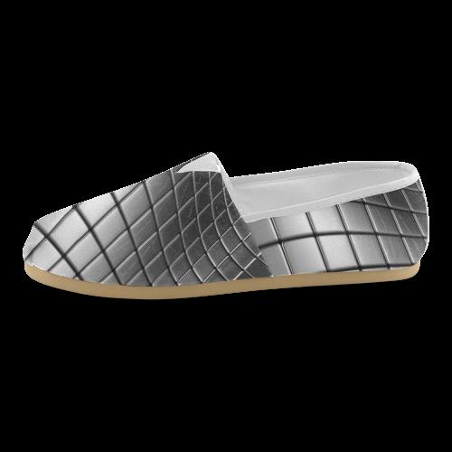 Silver Cubes Unisex Casual Shoes (Model 004)