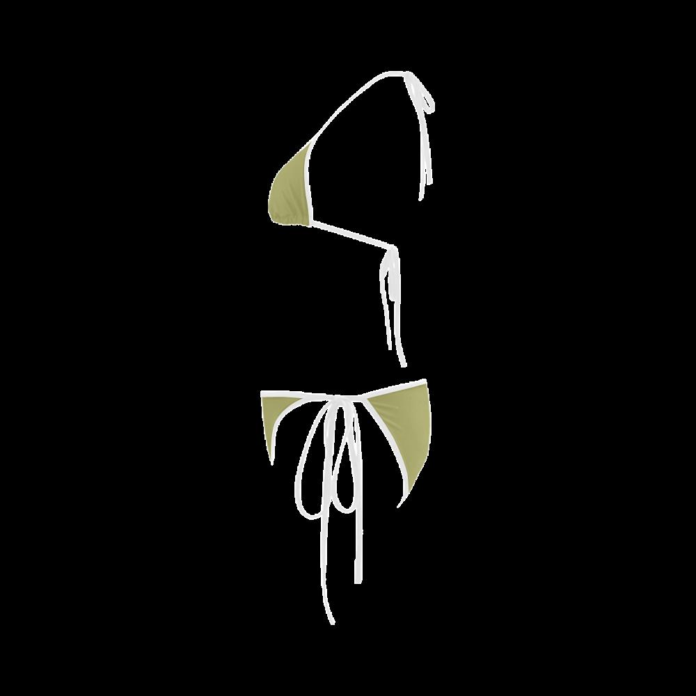 Moss Color Accent Custom Bikini Swimsuit