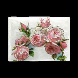 Vintage Pink Rose Floral Custom NoteBook A5