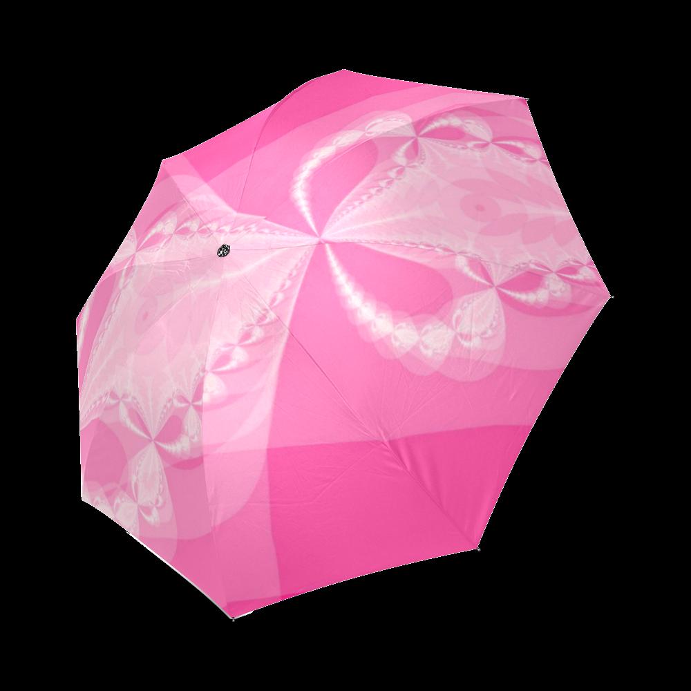 Pink Arrows Foldable Umbrella (Model U01)
