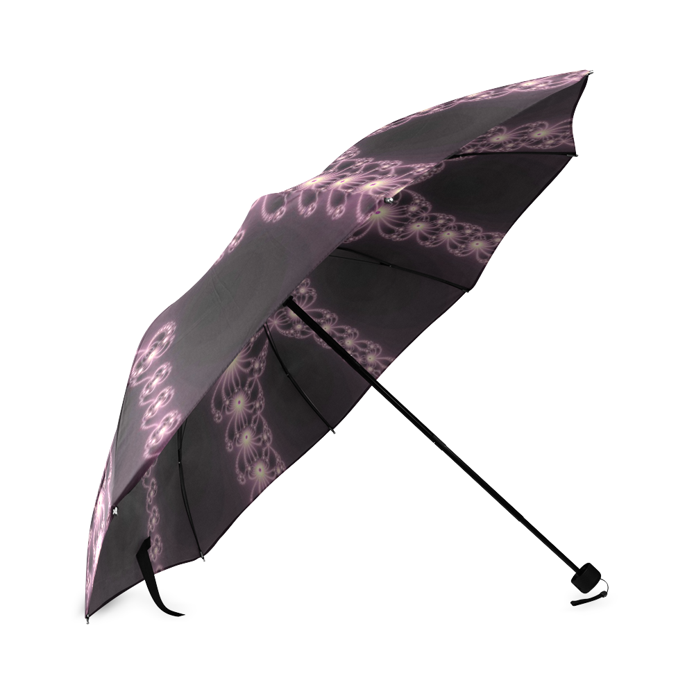 Pink Flower Bloom Foldable Umbrella (Model U01)