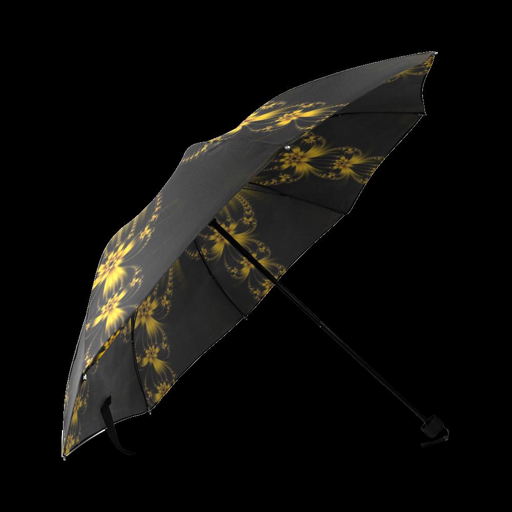Copper Flower Burst Foldable Umbrella (Model U01)