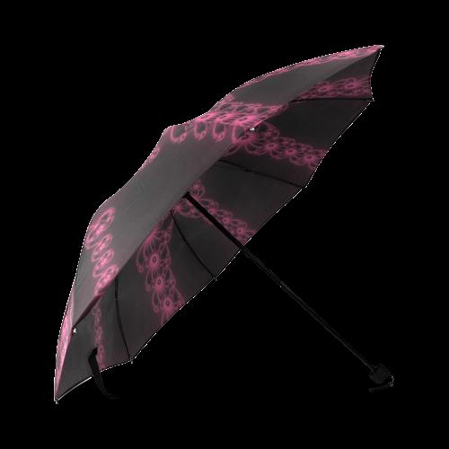 Fuchsia Flower Bloom Foldable Umbrella (Model U01)