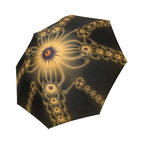 Orange Flower Bloom Foldable Umbrella (Model U01)